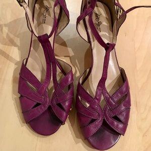 mariana by golc sybil t-strap peep toe sandal purp